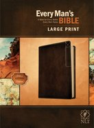 NLT Every Man's Bible Large Print Deluxe Explorer Edition Rustic Brown Imitation Leather