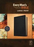 NLT Every Man's Bible Large Print Black Genuine Leather