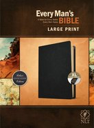 NLT Every Man's Bible Large Print Indexed Black Genuine Leather