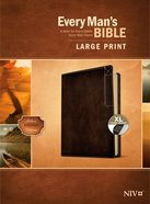 NIV Every Man's Bible Large Print Deluxe Explorer Edition Indexed Rustic Brown Imitation Leather