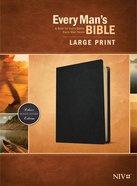 NIV Every Man's Bible Large Print Black Genuine Leather