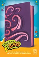 NLT Hands-On Bible Purple/Pink Swirls Imitation Leather