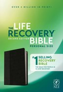 NLT Life Recovery Bible Second Edition Personal Size Black/Onyx Imitation Leather