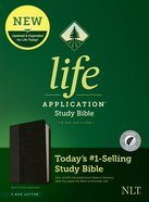 NLT Life Application Study Bible Black/Onyx Indexed (Red Letter Edition) (3rd Edition) Imitation Leather