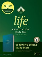 NLT Life Application Study Bible Teal Blue Indexed (Red Letter Edition) (3rd Edition) Imitation Leather