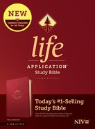 NIV Life Application Study Bible Berry (Red Letter Edition) (3rd Edition) Imitation Leather