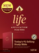 NIV Life Application Study Bible Berry Indexed (Red Letter Edition) (3rd Edition) Imitation Leather