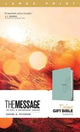 The Message Deluxe Gift Bible Large Print Teal Imitation Leather