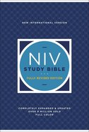 NIV Study Bible Fully Revised Edition (Red Letter Edition) Hardback