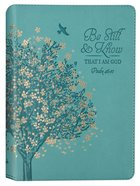 Journal: Be Still & Know Floral Tree, Teal (Psalm 46:10) Imitation Leather