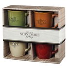 Ceramic Mugs 384 ML: Faith, Trust, Hope, Be Still (Set Of 4) Homeware