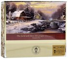 Christmas Boxed Cards: Thomas Kinkade the Lord Will Bless His People (Psalm 29:11 Kjv) Box
