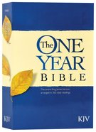 KJV One Year Bible (Black Letter Edition) Paperback
