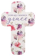 Bookmark Cross-Shaped: Now I Know Grace, Floral Stationery