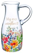 Glass Pitcher: My Cup Overflows (1242ml) Homeware