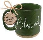 Ceramic Mug: Blessed, Green (Numbers 6:24 & 26) Powerful Words (503 Ml) Homeware