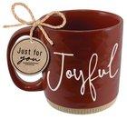 Ceramic Mug: Joyful, Red (1 Thess. 5:16-18) Powerful Words (503 Ml) Homeware