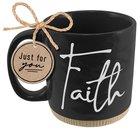 Ceramic Mug: Faith, Black (Proverbs 3:5-6) Powerful Words (503 Ml) Homeware