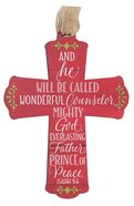 Cross Ornament: And He Will, Red Homeware