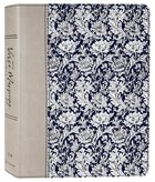 NIV Verse Mapping Bible Navy Floral Premium Imitation Leather