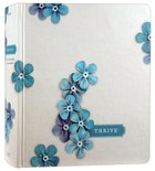 NLT Thrive Creative Journaling Devotional Bible Blue Flowers (Black Letter Edition) Hardback