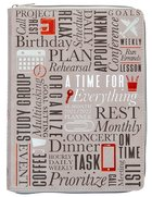 2021-2022 18 Month Diary/Planner: A Time For Everything Ziparound Planner Imitation Leather