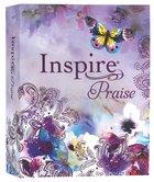 NLT Inspire Praise Bible Purple Garden Paperback