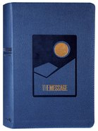 The Message Deluxe Gift Bible Large Print Navy Imitation Leather