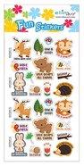 Fun Stickers: Deer and Rabbit, 1 Sheet Per Pack Novelty
