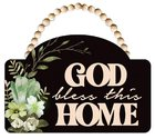 Mdf Wall Art: God Bless This Home Plaque