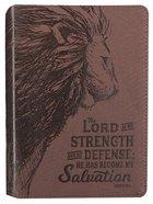 Journal: My Strength & My Defense Brown/Lion (Exodus 15:2) Imitation Leather
