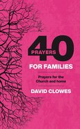 40 Prayers For Families eBook