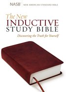 NASB New Inductive Study Bible Milano Burgundy Imitation Leather