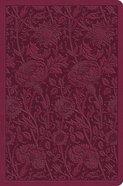 ESV Value Compact Bible Raspberry Floral Design Imitation Leather