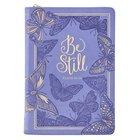 Journal: Be Still Purple Butterflies (Psalm 46:10) Imitation Leather