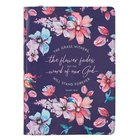 Journal: The Grass Withers Navy Floral (Isaiah 40:8) Imitation Leather