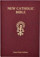 Ncb St Joseph New Catholic Bible Giant Print Burgundy Hardback