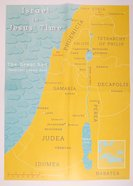 Israel in Jesus' Time Map (A2 Size, Comes Folded To A4 Size) Poster