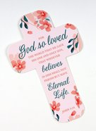 Bookmark Cross-Shaped: John 3:16, Pink Stationery