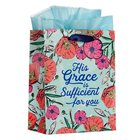 Gift Bag Medium: His Grace is Sufficient Poppies/Blue (2 Cor. 12:9) Stationery