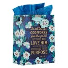 Gift Bag Medium: In All Things God Works For Good Navy/Blue (Romans 8:28) Stationery