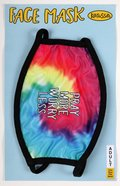 Face Mask: Pray More Worry Less:100% Polyester Outer Layer, 95% Cotton/5% Spandex Trim, One Size Fits Most Soft Goods
