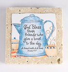 Sentiment Tile: God Bless Those Friends (Prov 17:17) Homeware