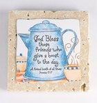 Sentiment Tile: God Bless Those Friends (Prov 17:17) (Ceramic) Homeware