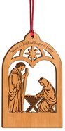 Christmas Ornament: Manger (Alder Wood) Wood: Reconstituted