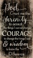 Panel Wall Art: God, Grant Me the Serenity... (Pine) Plaque