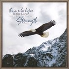 Square Framed Wall Art: Those Who Hope in the Lord Will Renew Their Strength, Eagle Plaque