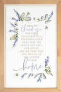 Framed Wall Art: Lord We Thank You...Home, Lavender Sprigs (Mdf/pine) Plaque