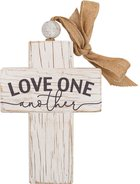 Cross: Love One Another, Bead and Ribbon For Hanging (Fir, Embossed Elm) Homeware