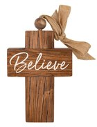 Cross: Believe, Bead and Ribbon For Hanging Homeware